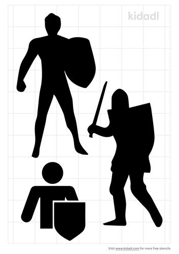 men-holding-shield-stencil