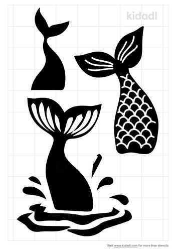 mermaid-tail-stencil