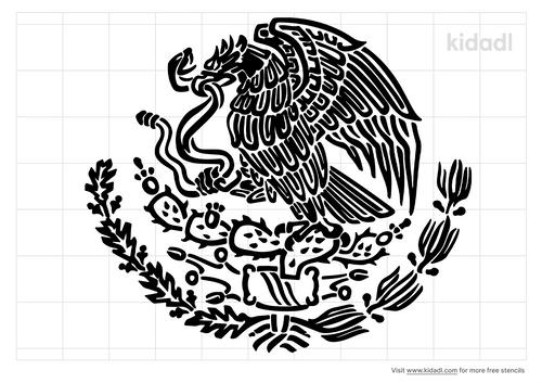 mexican-eagle-stencil