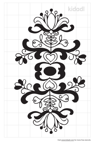 mexican-flowers-stencil