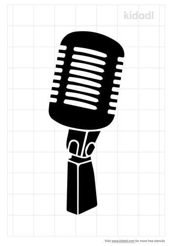 microphone-stencil