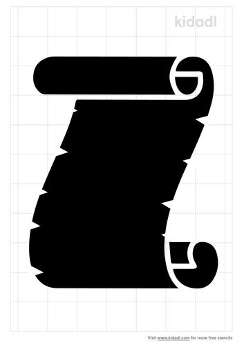 midevil-scroll-stencil