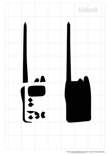 military-radio-stencil