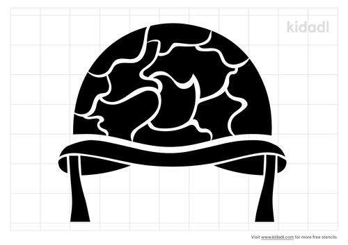 military-solider-helmet-stencil