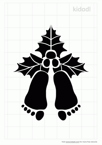 mistletoes-with-baby-feet-stencil