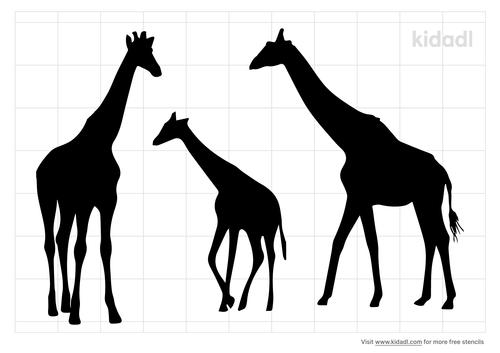 mom-dad-baby-giraffe-stencil