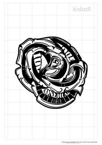 money-rose-stencil