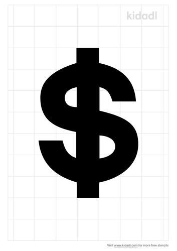 money-sign-stencil