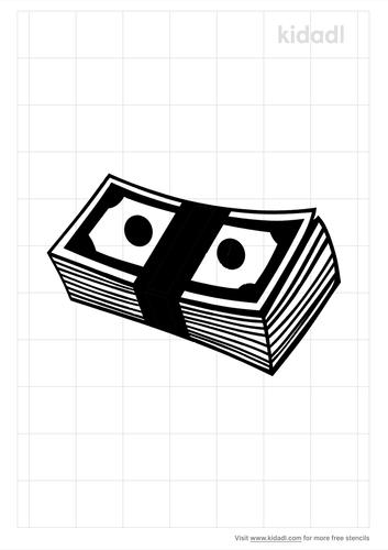 money-stack-stencil