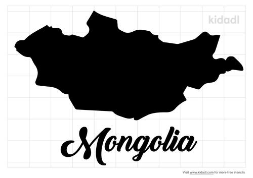 mongolia-stencil