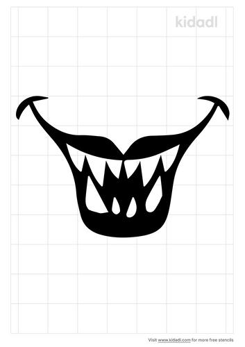 monster-jaw-stencil