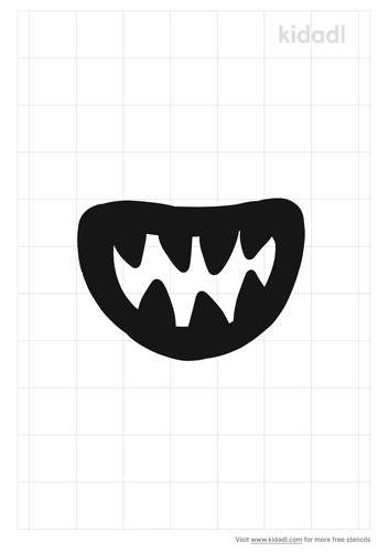 monster-mouth-stencil