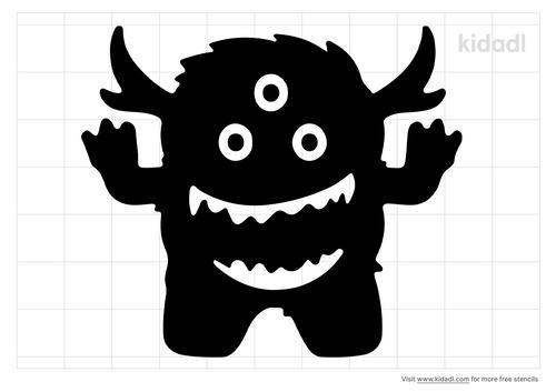 monsters-dancing-stencil