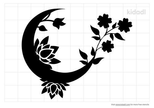 moon-flower-stencil