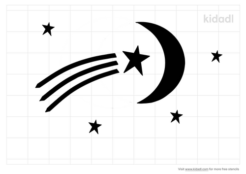 moon-with-a-shooting-star-in-the-middle-of-it-stencil