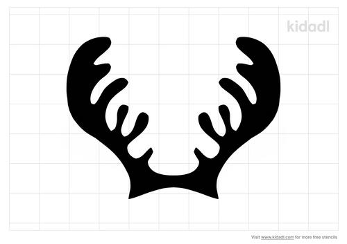 moose-antler-stencil
