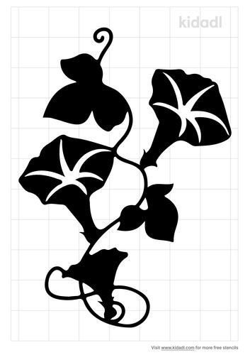 morning-glory-flower-stencil