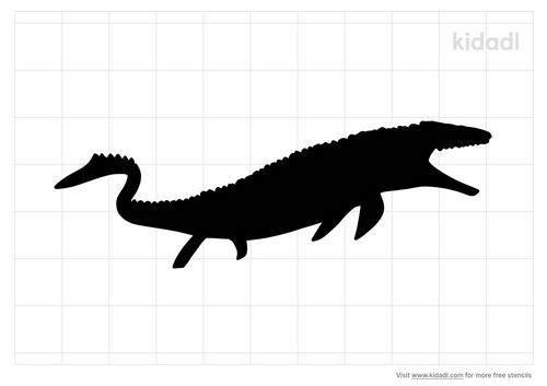mosasaurus-stencil