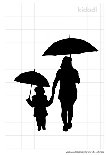 mother-and-child-with-umbrella-stencil