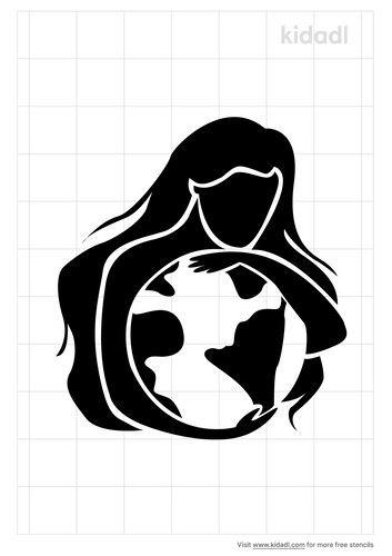 mother-earth-stencil