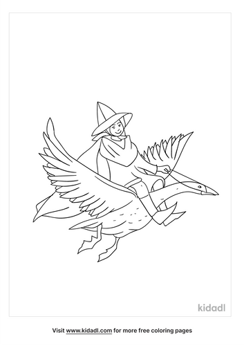 mother-goose-coloring-page
