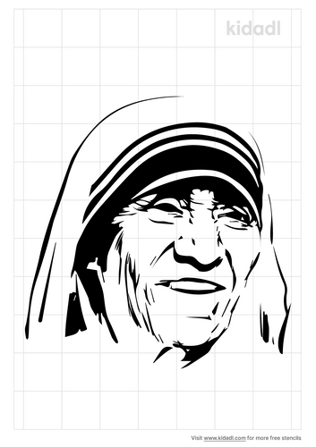 mother-teresa-stencil
