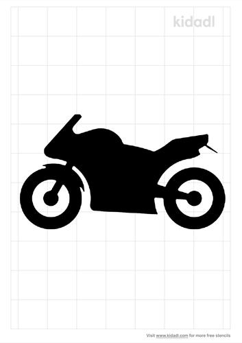motorbike-stencil