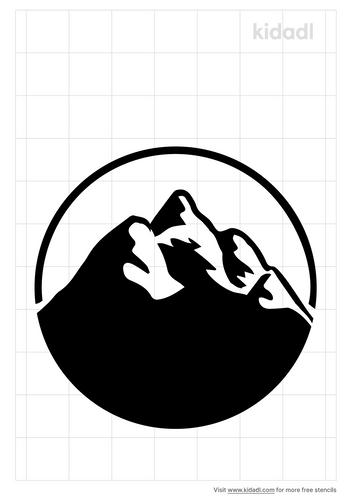 mountain-circle-stencil