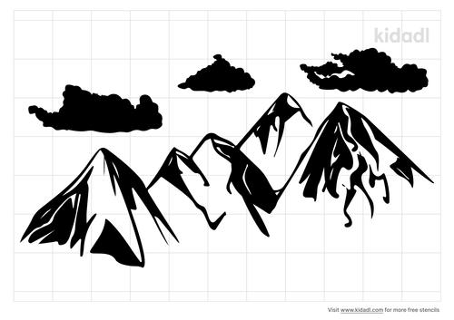 mountain-clouds-stencil