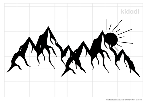 mountain-sunrise-stencil