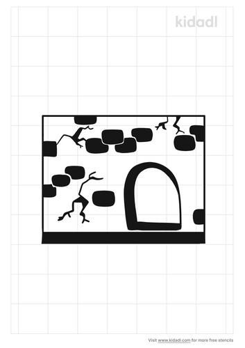 mouse-hole-stencil
