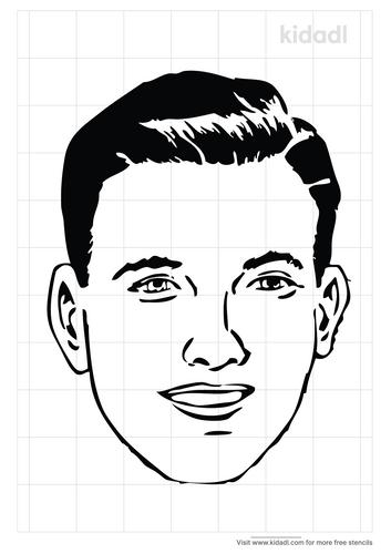 muscular-face-stencil