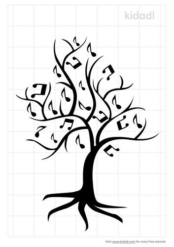 music-tree-stencil