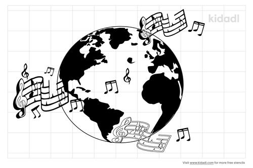 musical-planet-stencil