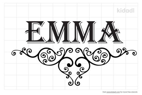 name-emma-stencil