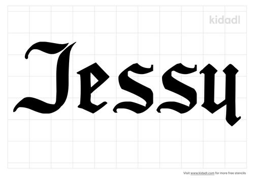 name-jessy-stencil