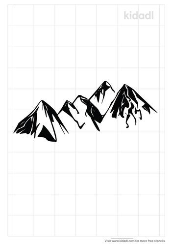 nature-mountain-stencil