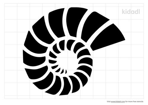 nautalis-shell-stencil