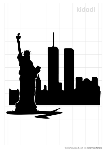 new-york-twin-towers-stencil