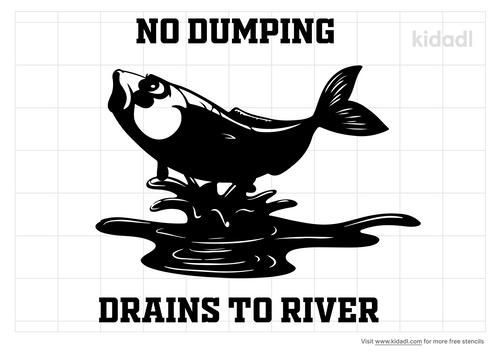 no-dumping-drains-to-river-stencil