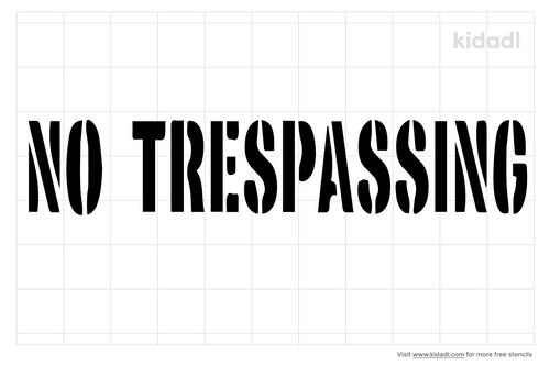no-trespassing-stencils