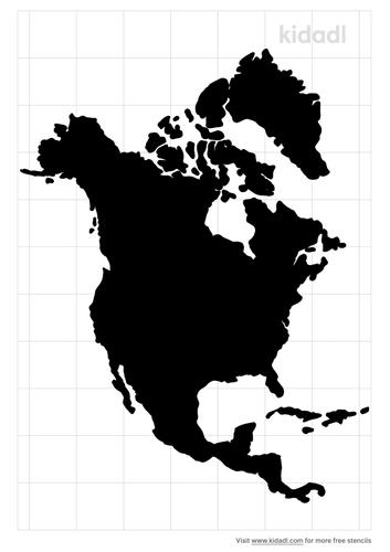 north-america-stencil