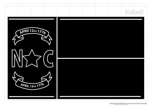 north-carolina-state-flag-stencil