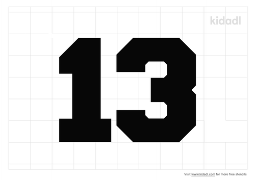 number-13-sports-number-stencil