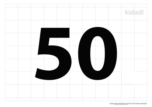 number-50-together-stencil
