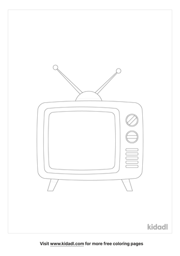 old-tv-set-coloring-page