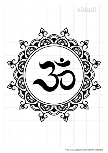 om-mandala-stencil