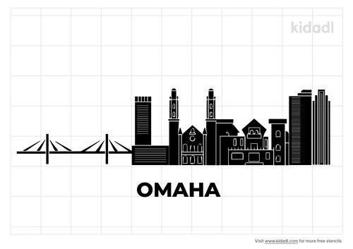 omaha-ne-skyline-black-and-white-stencil