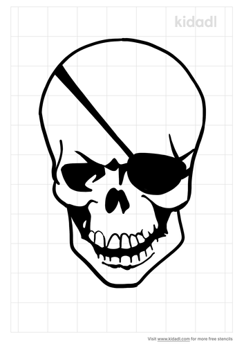 one-eyed-skull-stencil