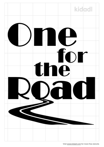one-for-the-road-stencil